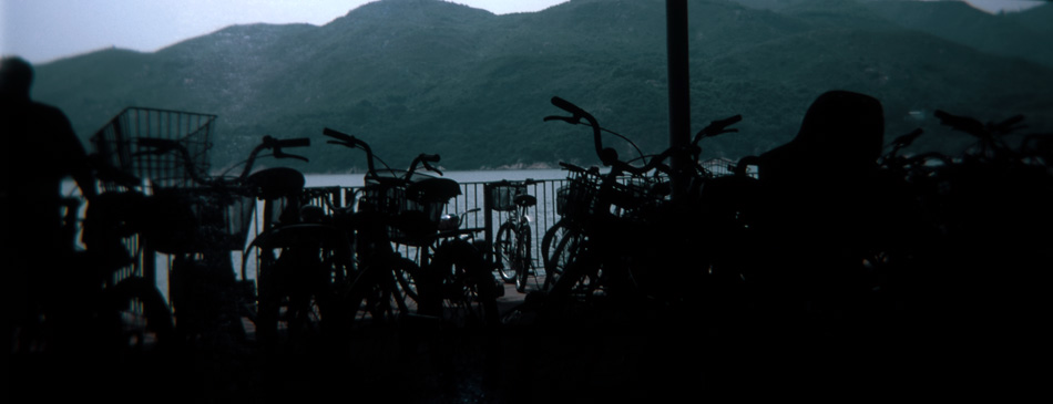 Untitled (Bicycle Shed), 202 x 85cm
