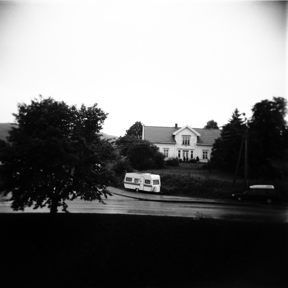 Untitled (Caravan on Road), 36 x 36cm